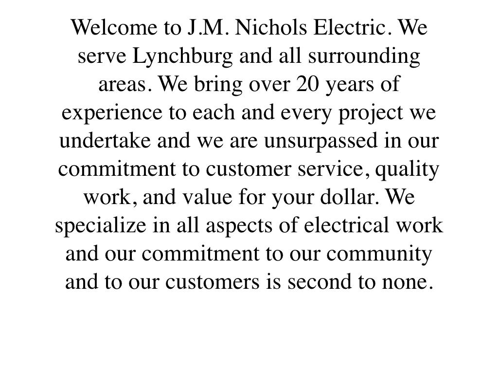 J.M. Nichols Electric Inc.